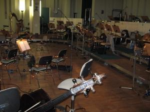 Das Orchester. Noch unbesetzt.