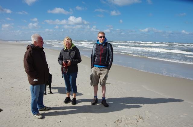 In Dänemark am Strande, mit Onkel und Tante