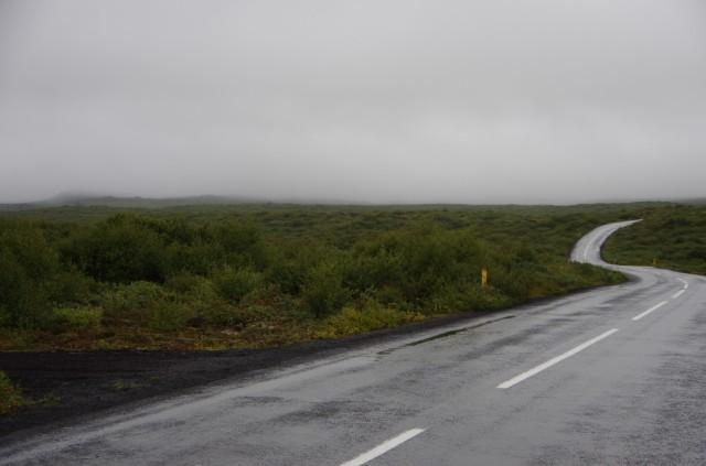 Die Straße durch den Nationalpark...