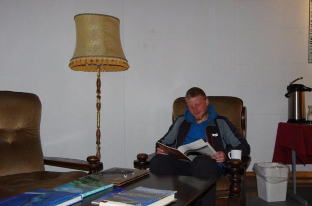 Stilechte Leseecke im Museum